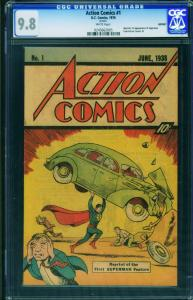 Action #1 1976 CGC Graded 9.8 1st Superman-rare SLEEPING BAG Reprint 0245662005