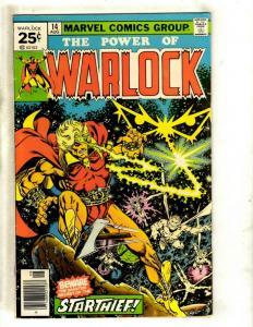 Warlock # 14 VF Marvel Comic Book Thanos Gamora Avengers Pip Troll Magus NP9