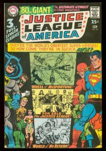 JUSTICE LEAGUE OF AMERICA #58 80 PAGE GIANT #41 1967 FN