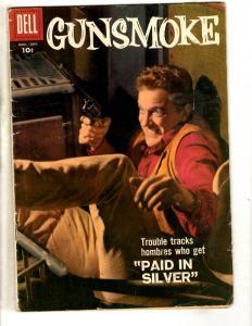Gunsmoke # 6 VG/FN Dell Silver Age Comic Book Photo Cover Paid In Silver JL1