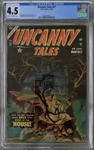 UNCANNY TALES #27 CGC 4.5 HAUNTED HOUSE COVER ROSS ANDRU ATLAS COMICS