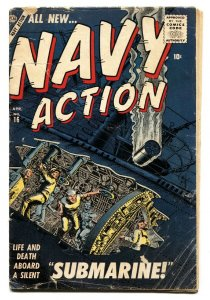 Navy Action #16 1957- Don Heck- Atlas War Comic G/VG
