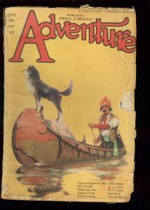 ADVENTURE PULP JULY 18 1919-TALBOT MUNDY-WC TUTTLE-RARE FR/G