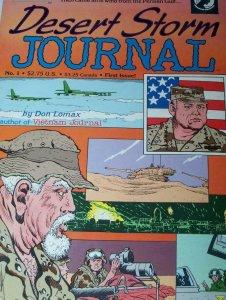 DESERT STORM #1, VF, Don Lomax, Iraq War, Saddam Hussein, 1991,more War in store