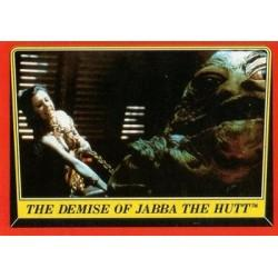 1983 Topps RETURN OF THE JEDI - THE DEMISE OF JABA THE HUTT #46