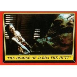 1983 Topps RETURN OF THE JEDI - THE DEMISE OF JABA THE HUTT #46