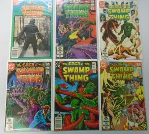Swamp Thing comic lot2nd Series From:#2-19 17 Different Books Avg 7.0 (1982+83)