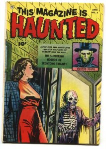 This Magazine Is Haunted #5 1951-Fawcett-Zombie headlight cover- FN-