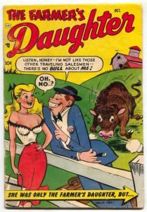 Farmer's Daughter #5 1954- LAST ISSUE- Rare spicy good girl art humor comic