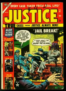 Justice Comics #41 1953- Electric Chair cover- Atlas Crime- VG-