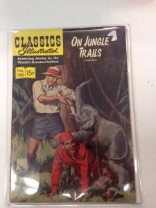 Classic Illustrated #140 1st printing On Jungle Trails VG+