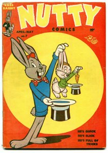 NUTTY #7 1948-RAGS RABBIT-HARVEY COMICS-ELECTROCUTION VG/FN