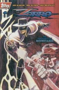 Zorro (Topps) #4 VF/NM; Topps | save on shipping - details inside