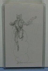 Star Wars SIGNED Sketch 3 x 5 Index Card Chris Moeller BOBA FETT MANDALORIAN