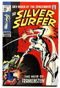 SILVER SURFER #7 comic book 1969-FRANKENSTEIN-JOHN BUSCEMA ART