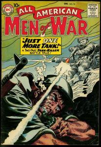 ALL-AMERICAN MEN OF WAR #76 1959-DC COMICS-TANK KILLER FN
