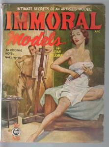 Croydon Books #26 1952-Immoral Models-Joan Sherman-spicy cover-VG