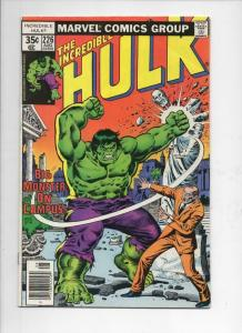 HULK #226, FN, Incredible, Bruce Banner, Campus Monster, 1968 1978, Marvel