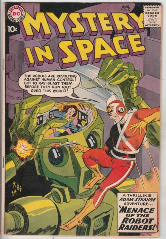 Mystery in Space #53 (Aug-59) VG/FN Mid-Grade Adam Strange
