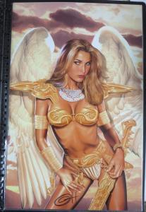 SIGNED Greg Horn Angel Warrior Print!  11x17 NM