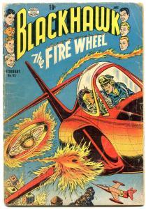Blackhawk #85- The Fire Wheel- Golden Age- missing centerfold