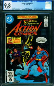 ACTION #521 CGC 9.8 1981 1st VIXEN-SUPERMAN- 1416876001