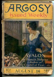 Argosy 8/16/1919-Isle of Drums by J. Allan Dunn-Avalon Part I by Frances ...