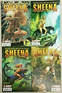 SHEENA QUEEN OF THE JUNGLE#1-4 VF/NM LOT 2007 DEVILS DUE COMICS