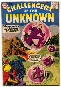 Challengers of the Unknown #8 1959- DC Jack Kirby Wally Wood VG