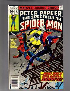 PETER PARKER 8 VERY GOOD-FINE  July 1977 (Loose Staole)