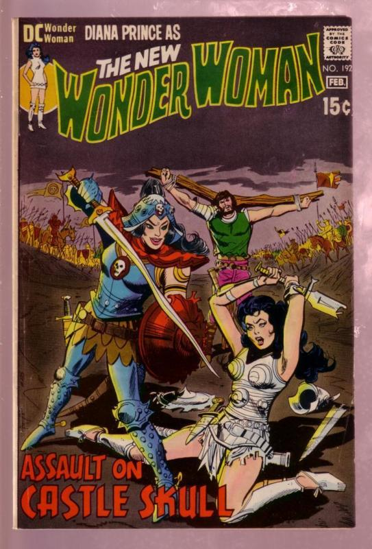WONDER WOMAN #192 1971- DIANA PRINCE-BATTLE COVER - DC FN