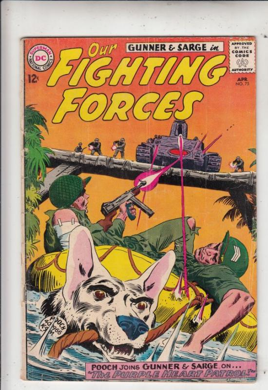 Our Fighting Forces #75 (Apr-63) VG/FN Mid-Grade Gunner