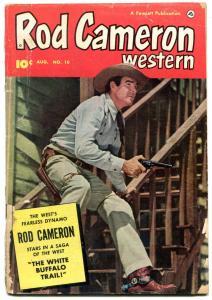Rod Cameron Western #10 1951-FAWCETT-B-WESTERN FILM STAR- good