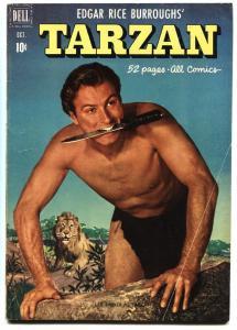 TARZAN # 25 1951 DELL EDGAR RICE BURROUGHS VG+