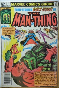 Man-Thing #11 (1981) Last Issue, Low Print Run !