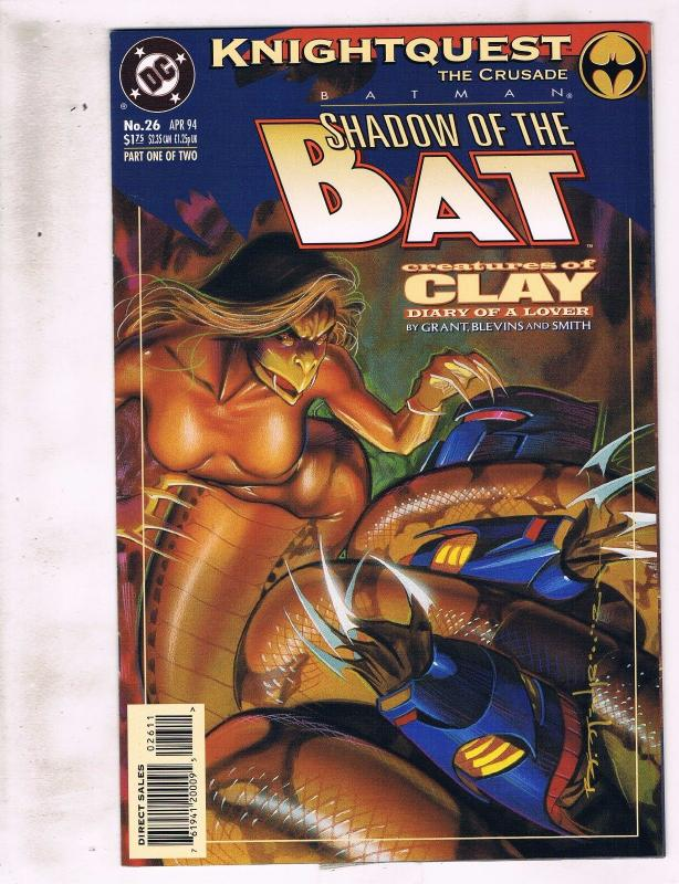 Lot of 2 Batman Shadow of the Bat DC Comic Books #26 27 KS5