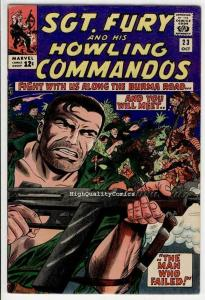 SGT FURY #23, War, WWII, Japanese, Dick Ayers, 1963, FN+, Silver age