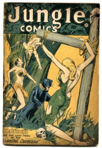 Jungle Comics #99 1947-Kaanga-bondage cover FR