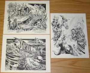 Burne Hogarth's King Arthur Portfolio vol. 1 limited to 1,500 copies! 1983 set