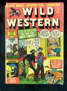 WILD WESTERN #15 1951-GUNHAWK-APACHE KID-BLACK RIDER-good plus G+