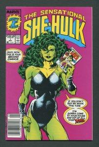 She-Hulk #1  / 8.0 VFN  Newsstand  May 1989