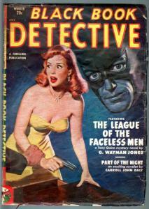 BLACK BOOK DETECTIVE 1951 WINT-BLACK BAT-PULP-HERO PULP-RARE G/VG