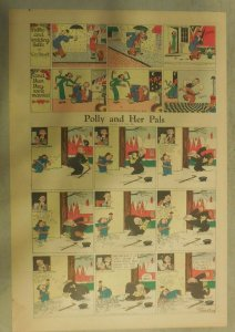 Polly and Her Pals Sunday by Cliff Sterrett from 2/16/1936 Tabloid Size !