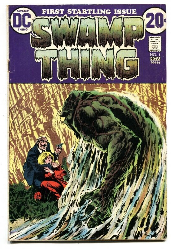 SWAMP THING #1 1st issue-Key-DC Comic Book 1972 vg+