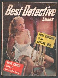 Best Detective Cases #4 1956-Spicy bondage-stocking-garter-lingerie cover-vio...