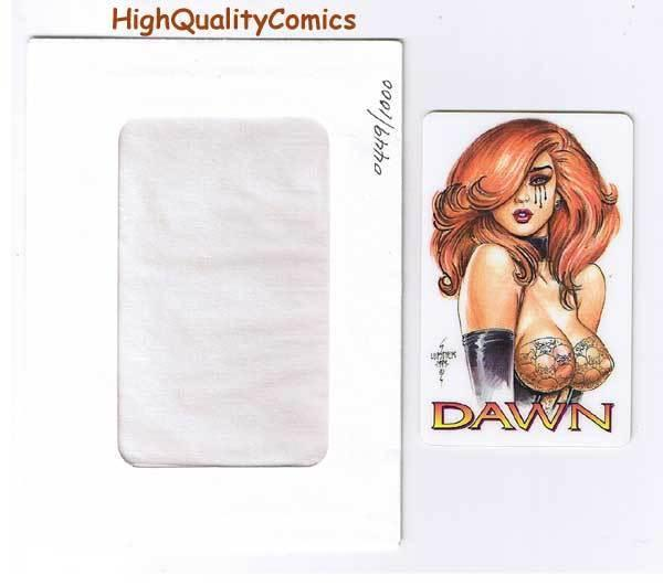TEARS of DAWN Limited Calling Card, Joseph Linsner, SDCC,1997, more JML in store
