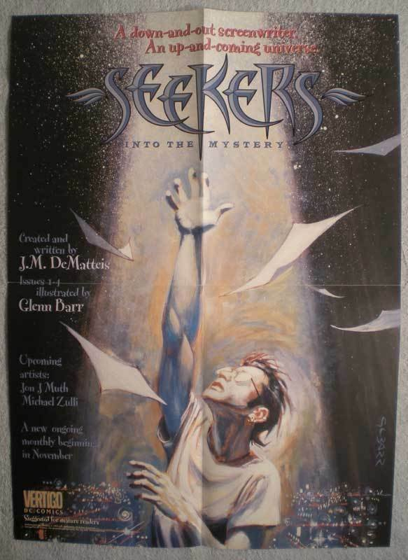 SEEKERS Promo poster, Vertigo, 16x22, 1995, Unused, more Promos in store