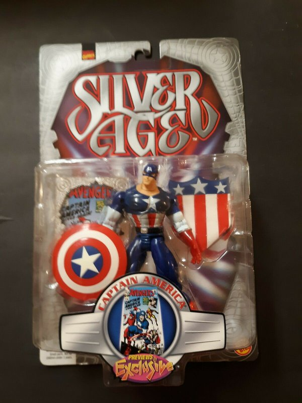 Marvel Comics Silver Age Captain America Figure - Toy Biz - Sealed MOC
