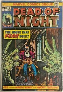DEAD OF NIGHT#2 GD 1974 MARVEL BRONZE AGE COMICS