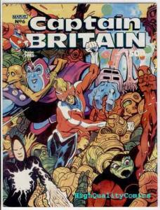 CAPTAIN BRITAIN #6, VF+/NM, Alan Davis, Delano, 1985